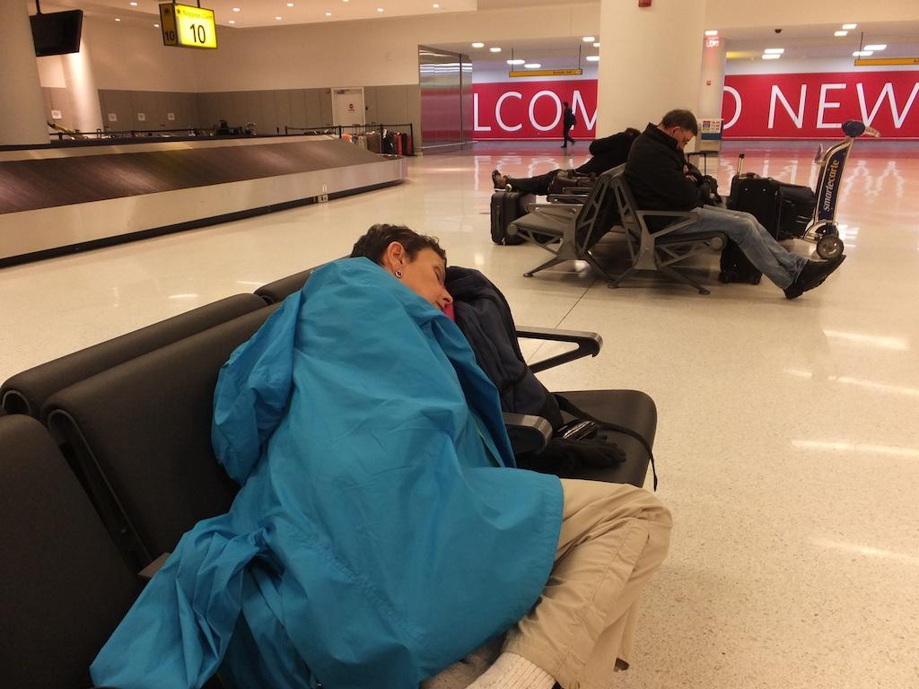 Baggage claim at JFK 2:30 am