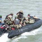Military escort, Casamance Rive, Senegal