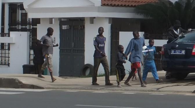 On the street in Dakar, Senegal